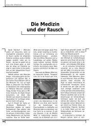 Daniel Rühmkorf: Die Medizin und der Rausch