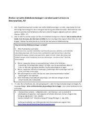 Øvelse i at sætte kildehenvisninger i en tekst samt i at lave en ... - Emu