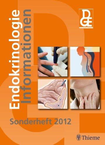 Sonderheft 2012 - Deutsche Gesellschaft für Endokrinologie