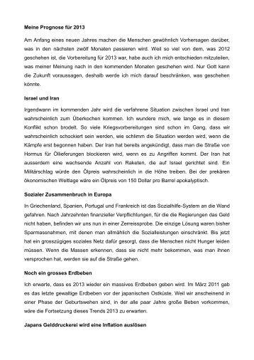 Meine Prognose für 2013 - Endzeitzeichen.org endzeitzeichen.org