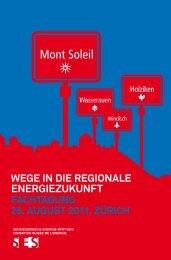 Tagungsprogramm - Schweizerische Energie-Stiftung