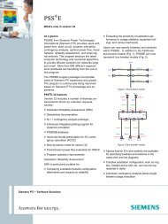 Siemens PTI − Software Solutions At a glance ... - Siemens Energy