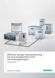 Effiziente Energie-Automatisierung mit dem Standard IEC ... - siemens