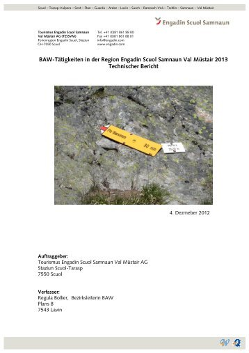 BAW-Bericht 2012 - Engadin