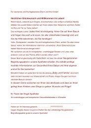 Neugeborenen-Begrüßungspaket-Kurzform als ... - Engel Apotheke