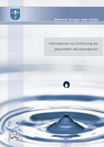 Broschüre - Eningen unter Achalm