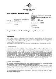 Vorlage der Verwaltung - Ennepe-Ruhr-Kreis