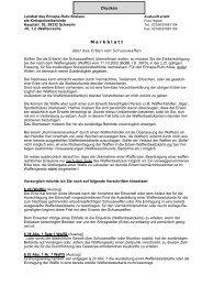 Merkblatt für Erben von Schusswaffen - Ennepe-Ruhr-Kreis