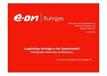 Langfristige Verträge in der Gaswirtschaft - enreg.eu