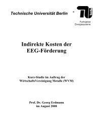 Indirekte Kosten der EEG-Förderung - Fachgebiet Energiesysteme ...