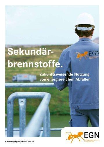 Sekundärbrennstoffe - EGN Entsorgungsgesellschaft Niederrhein ...