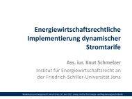 Knut Schmelzer, Institut für Energiewirtschaftsrecht an der Friedrich ...