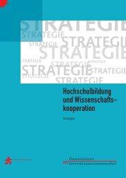 Strategie Hochschulbildung und Wissenschaftskooperation