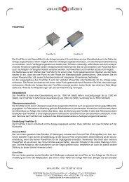 Druckversion Finefilter (PDF) - Audioplan