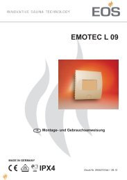 Bedienungs- und Montageanleitung - Eos
