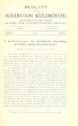 Növénytani közlemények - 6. évf. 1. sz. (1907.) - EPA