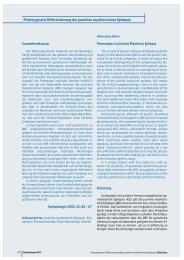 Phänotypische Differenzierung der juvenilen myoklonischen Epilepsie