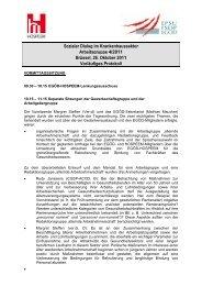 Sozialer Dialog im Krankenhaussektor Arbeitsgruppe 4 ... - EPSU