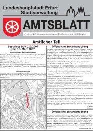Amtsblatt Nr. 7 vom 20. April 2007 - Erfurt