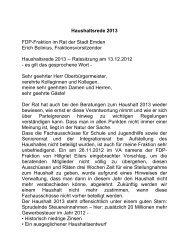 Haushaltsrede 2013 FDP-Fraktion im Rat der Stadt ... - Erich Bolinius