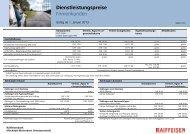 Dienstleistungspreise Firmenkunden - Erlebnisbank.ch