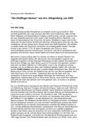 Die Dörflinger Namen - www . erratiker . ch