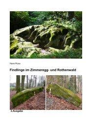 Findlinge im Zimmeregg- und Rothenwald - www . erratiker . ch