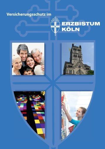 Versicherungsschutz im - Erzbistum Köln