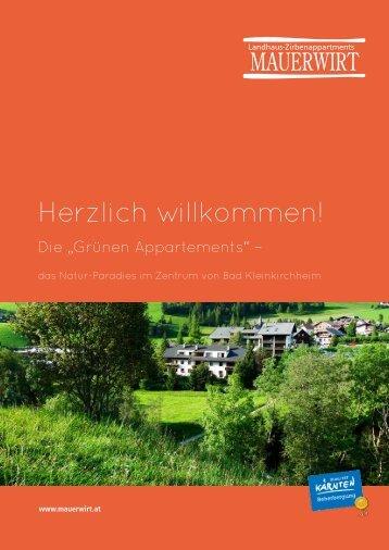 Mauerwirt Preisblatt Sommer 2013 - Hotel Eschenhof