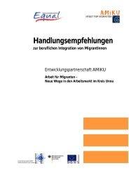 Handlungsempfehlungen zur beruflichen Integration von MigrantInnen