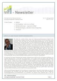 IVIF-Newsletter Nr.3 Juli/August 09 - Ethna Funds