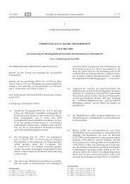 VERORDNUNG (EG) - EUR-Lex - Europa