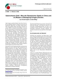 Gebrochenes Gold - EU-China Civil Society Forum