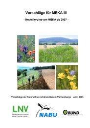 Vorschläge für MEKA III - EU-Förderung des Naturschutzes 2007 bis ...