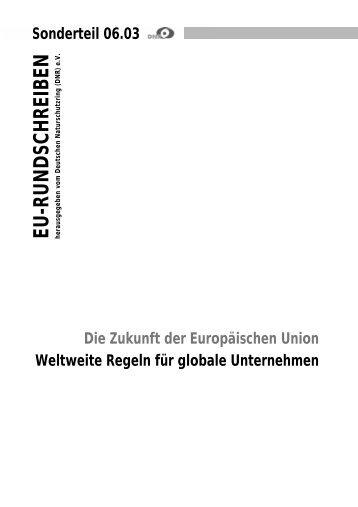 Regeln für Unternehmen - EU-Koordination