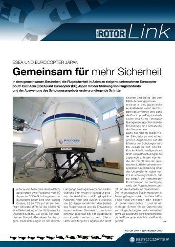 Gemeinsam für mehr Sicherheit - Eurocopter