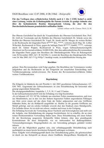 OGH Beschluss vom 12.07.2006, 4 Ob 3/06d ... - Eurolawyer.at