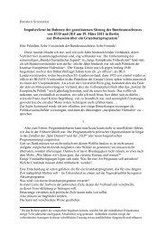 EUD / JEF – Bundesausschüsse / Notizen für das Referat zur ...