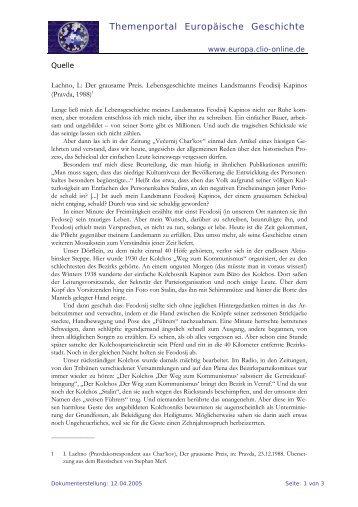 pdf-Version - Themenportal Europäische Geschichte - Clio-online