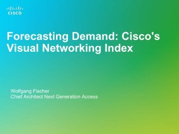 Forecasting Demand: Cisco's Visual Networking Index