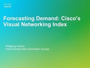 Forecasting Demand: Cisco's Visual Networking Index