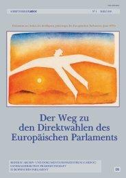 Der Weg zu den Direktwahlen des Europäischen Parlaments