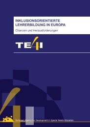 Inklusionsorientierte Lehrerbildung in Europa. Chancen und ...
