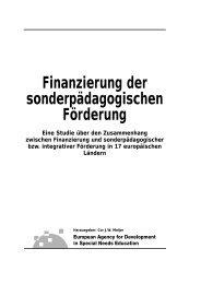 Finanzierung der sonder.... - European Agency for Development in ...