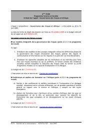 Gouvernance des risques et éthique - Eurosfaire