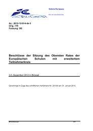 5. Dezember 2012 - Schola Europaea
