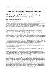 Mehr als Gummibärchen und Bananen - Evangelische Akademie ...
