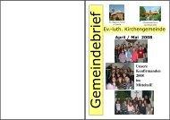 Gemeindebrief April/Mai 2008 - Ev.-lt. Kirchengemeinde Sande