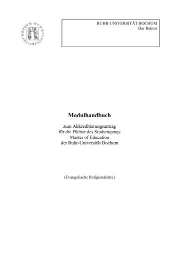 Modulhandbuch Master of Education - Evangelisch-Theologische ...