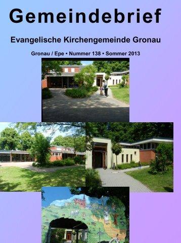 Gemeindebrief Nr 138 - Evangelische Kirchengemeinde Gronau